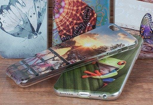 Back Case 0.3mm Kreatui COVER PhotoCase ALCATEL A5 LED + GLASS 9H