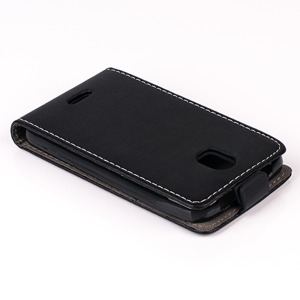 SLIM FLIP FLEX CASE COVER magnet RUBBER HUAWEI Y3 BLACK