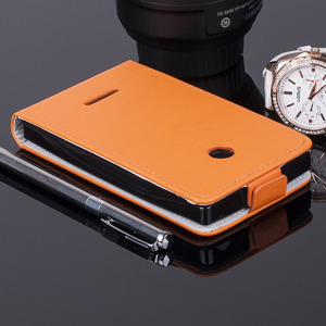 COVER Fall Holster Magnet CASE TASCHE MICROSOFT LUMIA 435 532 ORANGE