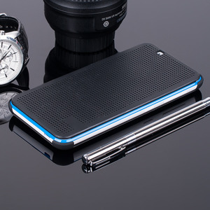 DOT VIEW FLIP CASE WALLET COVER pocketbook HTC DESIRE 620 BLACK