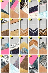 Case Cover Overprint Kreatui MARBLE ALCATEL A5 LED + GLASS 9H