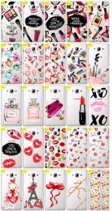 Case Caso Copertura Overprint Kreatui FASHION GALAXY ON7 G600 + VETRO