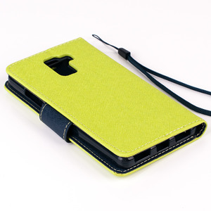 WALLET FLIP CASE COVER pocketbook magnet HUAWEI HONOR 7 lime and navy
