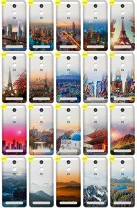 Case Cover Overprint Kreatui GRADIENT ZTE BLADE A602 + GLASS 9H