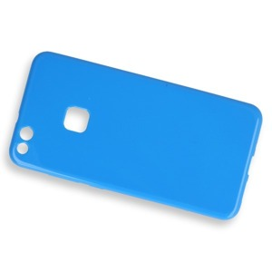 Fall decken CASE COVER GEL TPU TASCHE JELLY HUAWEI P10 LITE BLAU