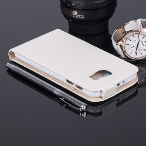 COVER Fall Holster Magnet CASE TASCHE SAMSUNG GALAXY S6 SM-G920 Weiß