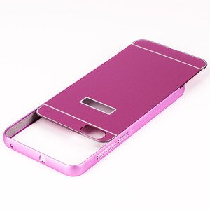 ALUMINIUM FRAME PROTECT BUMPER CASE COVER HUAWEI HONOR 4X PINK + Glass