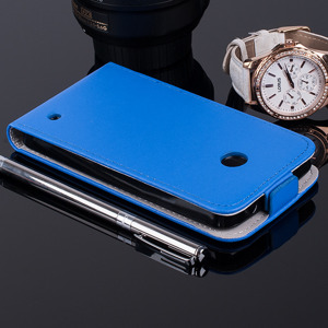 SLIM Fall Holster decken COVER CASE TASCHE NOKIA LUMIA 630 635 BLAU