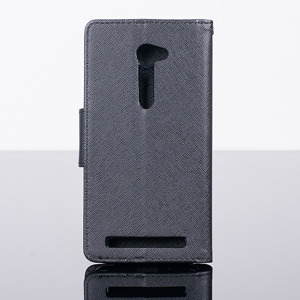 WALLET FLIP CASE COVER magnet pocketbook ASUS ZENFONE 2 5.0 BLACK