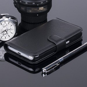 WALLET CASE COVER SAMSUNG GALAXY CORE PRIME SM-G360 pocketbook BLACK