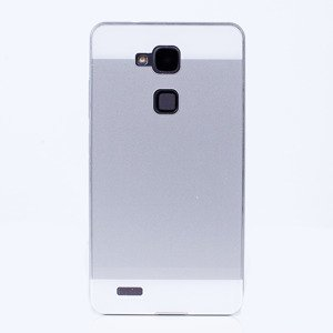 ALUMINIUM FRAME PROTECTION BUMPER CASE COVER HUAWEI MATE 7 SILVER