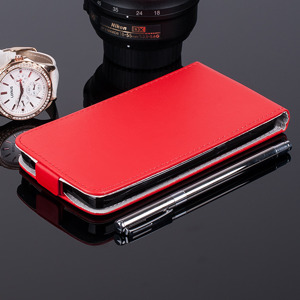 SLIM FLIP CASE COVER RUBBER magnet HUAWEI ASCEND Y635 RED