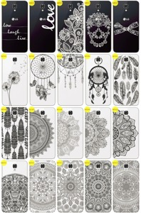 Back Case Cover Overprint Kreatui LaceCase LG X SCREEN + GLASS 9H