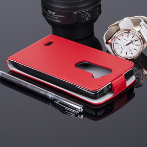 COVER Fall Holster Magnet CASE TASCHE TPU LG LEON / LEON LTE ROT
