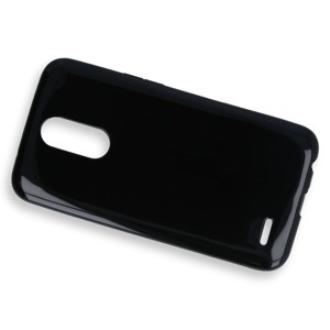 BACK CASE COVER GEL RUBBER JELLY LG K10 2017 BLACK