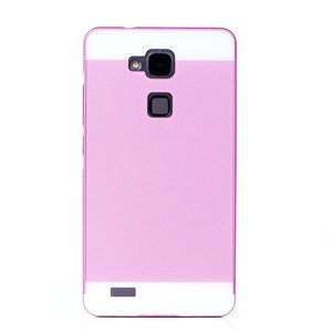 ALUMINIUM FRAME PROTECTION BUMPER CASE COVER HUAWEI MATE 7 PINK