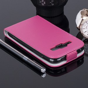 Fall Holster CASE TASCHE CASE COVER SAMSUNG GALAXY J1 SM-J100 ROSA