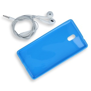 Fall decken CASE COVER GEL TASCHE JELLY NOKIA 3 BLAU