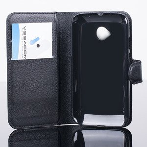 2in1 WALLET CASE COVER MOTOROLA MOTO E2 E 2nd Gen pocketbook BLACK
