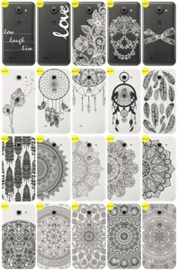 Back Case Cover Overprint Kreatui LaceCase HUAWEI ASCEND Y550 + GLASS