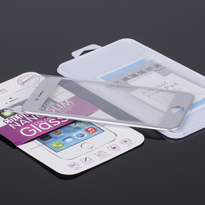 FULL FACE Tempered Glass Film Screen Protector for iPhone 6 4.7 SILVER