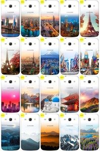 Case Aufdruck Tasche Fall Kreatui GRADIENT GALAXY CORE PLUS G350 +GLAS