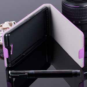 FLEX Fall Holster decken COVER CASE TASCHE SONY XPERIA M2 AQUA VIOLETT