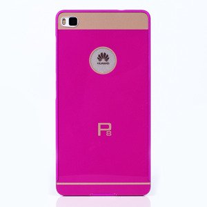 ALUMINIUM FRAME PROTECTION BUMPER CASE COVER HUAWEI ASCEND P8 PINK