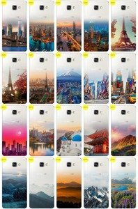 Case Cover Overprint Kreatui GRADIENT GALAXY A3 2016 SM-A310 +GLASS 9H