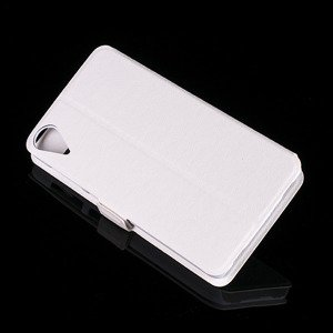 FLIP SLIM CASE COVER TPU WINDOW VIEW FOR HTC DESIRE 10 LIFESTYLE WHITE
