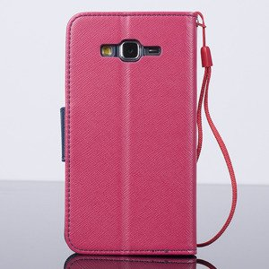 WALLET CASE COVER SAMSUNG GALAXY GRAND PRIME G530 pocketbook pink-navy