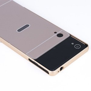 ALUMINIUM FRAME PROTECTION BUMPER CASE COVER SONY XPERIA M4 AQUA GOLD