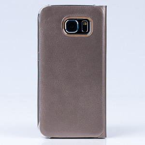 CASE COVER TPU WINDOW VIEW FOR SAMSUNG GALAXY S6 SM-G920 GOLD