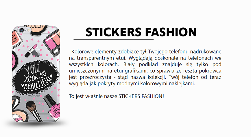 Kolekcja etui na telefon Stickers Fashion