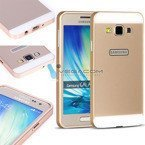 ALUMINIUM FRAME BUMPER CASE COVER GALAXY GRAND MAX G720 GOLD + Glass