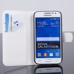WALLET CASE COVER SAMSUNG GALAXY CORE PRIME SM-G360 WHITE + PROTECTOR