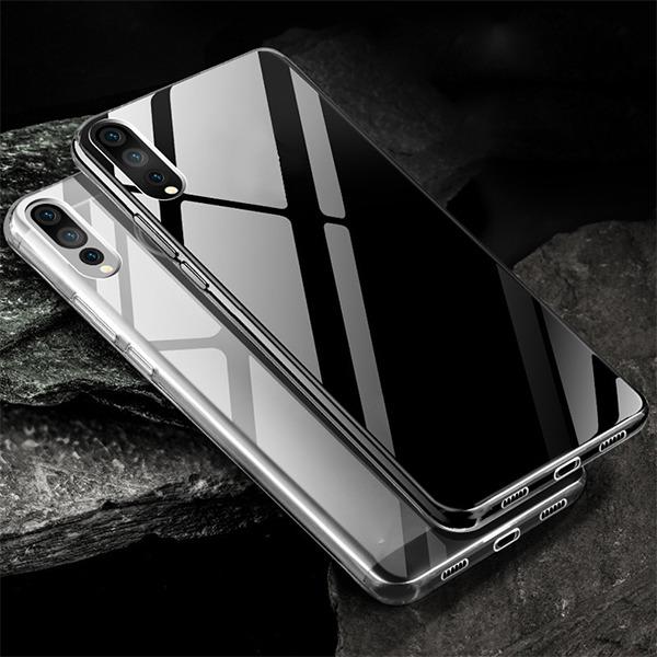 quality design 95031 38f83 0.3mm CASE COVER HUAWEI P20 PRO TRANSPARENT + GLASS 9H