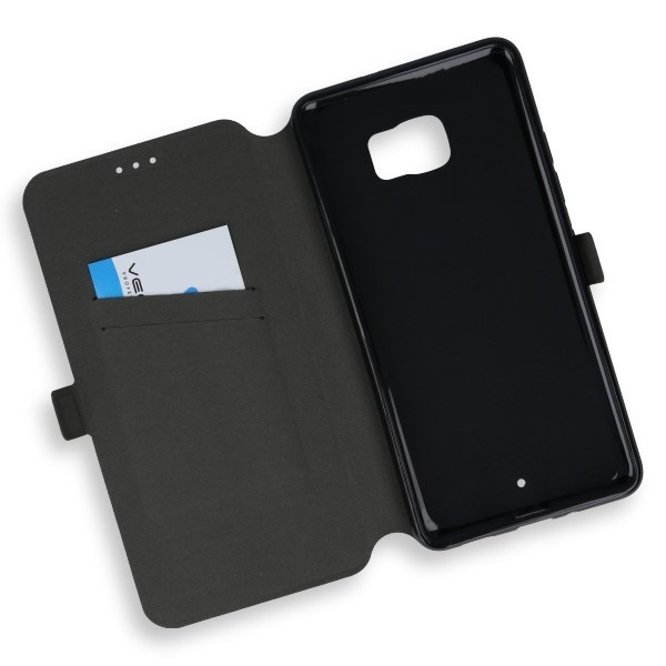 huge discount 235b3 7a9d1 2in1 WALLET FLIP CASE COVER MAGNET pocketbook HTC U ULTRA BLACK