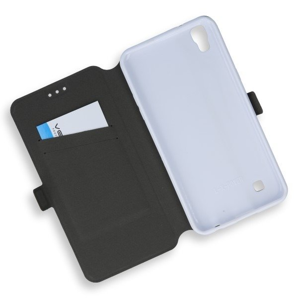 2in1 WALLET FLIP CASE COVER MAGNET pocketbook LG X POWER WHITE