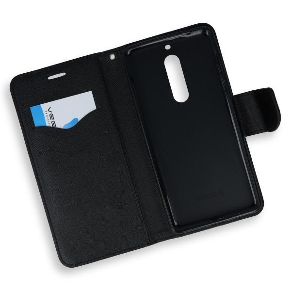 finest selection 55110 76cfb 2in1 WALLET FLIP CASE COVER MAGNET pocketbook NOKIA 5 BLACK