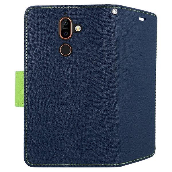 big sale eb396 cbb20 2in1 WALLET FLIP CASE COVER MAGNET pocketbook NOKIA 7 PLUS NAVY