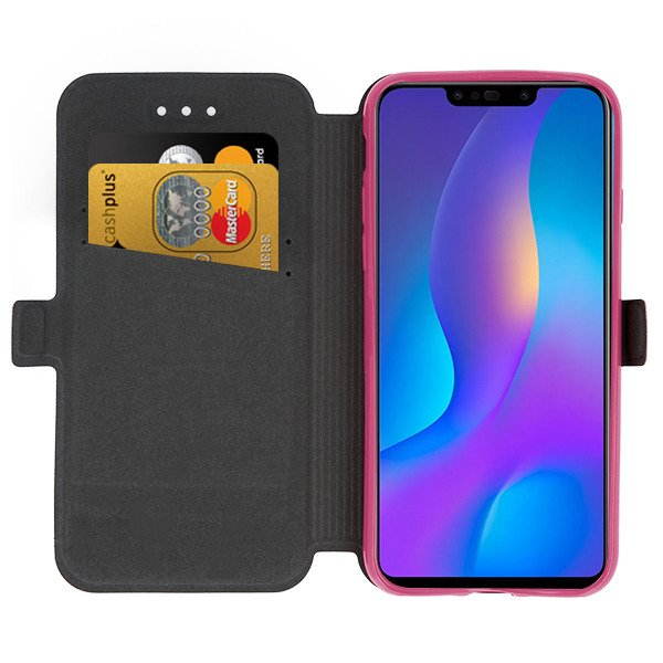 the best attitude 79e2a b74ae 2in1 WALLET FLIP CASE MAGNET pocketbook HUAWEI P SMART PLUS PINK