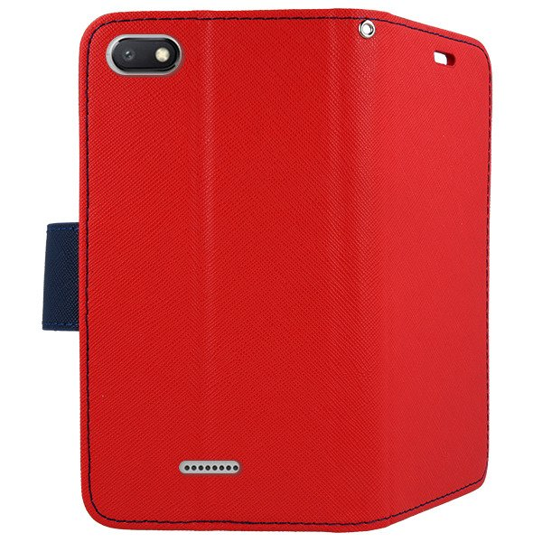 newest 27501 40bc7 2in1 WALLET FLIP CASE MAGNET pocketbook XIAOMI REDMI 6A RED