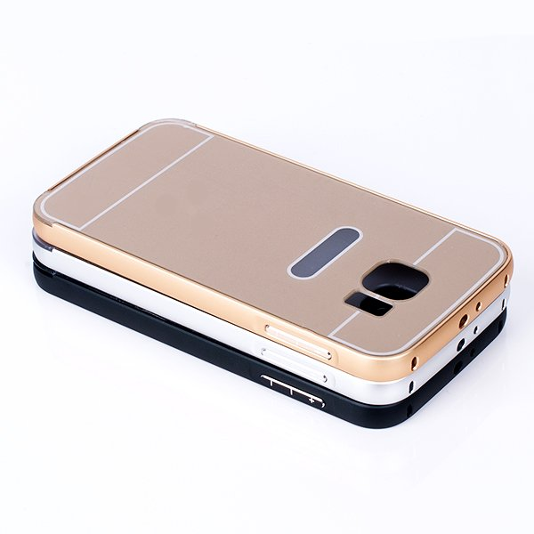 ALUMINIUM FRAME BUMPER CASE COVER for GALAXY S6 SM-G920 GOLD + Glass