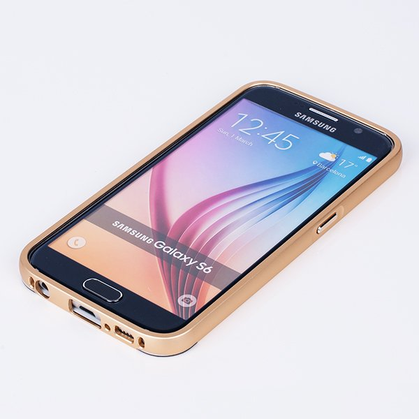 ALUMINIUM FRAME BUMPER CASE COVER for SAMSUNG GALAXY S6 SM-G920 GOLD