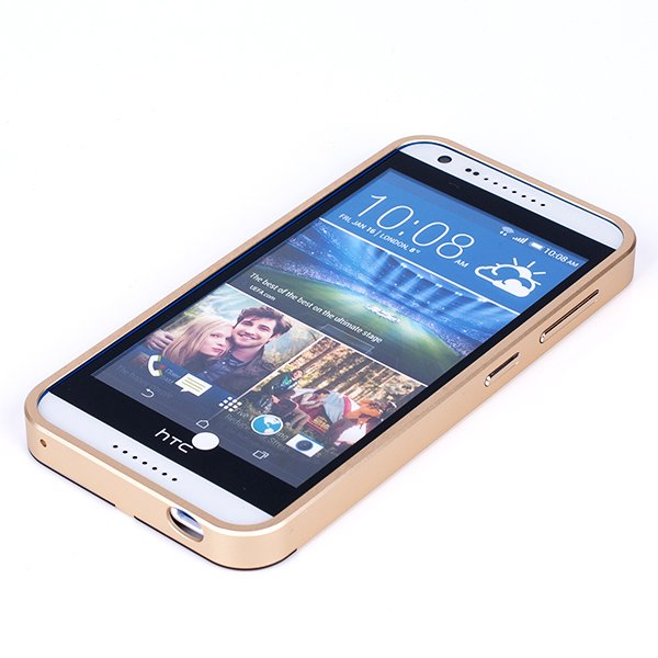 ALUMINIUM FRAME PROTECTION BUMPER CASE COVER HTC DESIRE 820 MINI GOLD