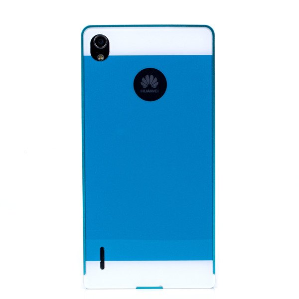 ALUMINIUM FRAME PROTECTION BUMPER CASE COVER HUAWEI ASCEND P7 BLUE