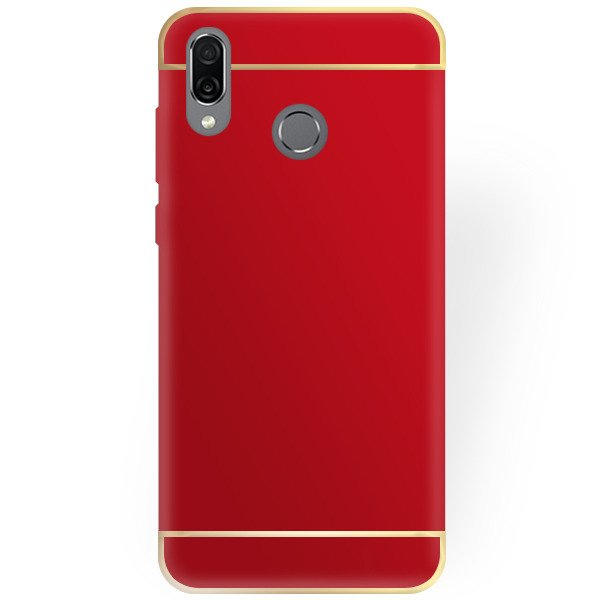 first rate 064d4 6f6d2 BACK CASE COVER AMARE HARD HUAWEI HONOR PLAY RED + GLASS 9H