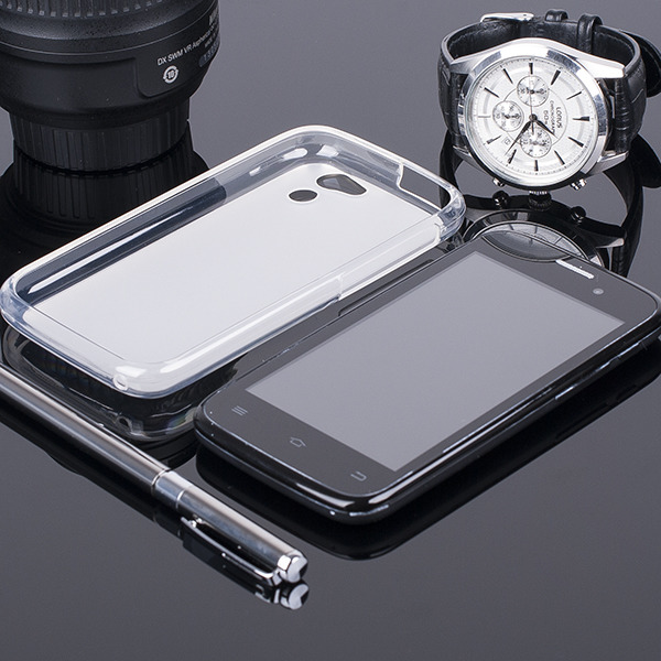 BACK CASE COVER CLEAR GEL TPU GOCLEVER QUANTUM 400 LITE CLEAR
