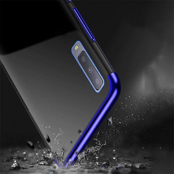 new arrival 33614 d590a BACK CASE COVER GEL BUMPER AMBIT SAMSUNG GALAXY A7 2018 SM-A750 BLUE